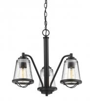 Z-Lite 444-3-BRZ - 3 Light Chandelier