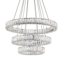 Kuzco Lighting Inc CH7874 (4000K) - Three Tiered LED Chandelier with Exquisite Diamond Cut Clear Crystals